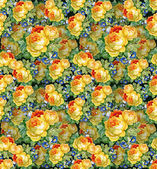 Watercolor flower  background — Stock Photo