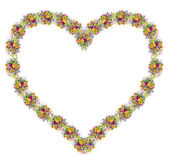 Colorful floral heart — Stock Photo