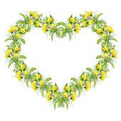 Colorful dandelion heart — Stok fotoğraf