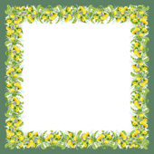 Colorful dandelion frame — Stock Photo