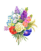 Watercolor flowers bouquet — Stockfoto