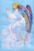美しい天使の翼を持つ — ストック写真