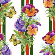 Pansies with butterflies — Stock Photo #47272107