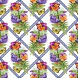 Pansies with butterflies — Stock Photo #47272115