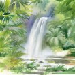 Waterfall in jungle — Stock Photo #47272141