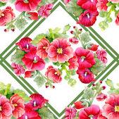 Vintage mallows seamless pattern — Stock Photo