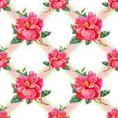 Patrón floral transparente — Foto de Stock