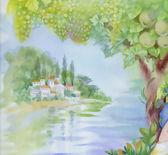 Watercolor landscape — Stock Photo