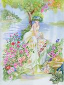 Fairy woman — Stock Photo