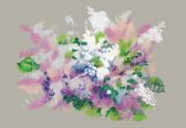 Watercolor  Spring wildflowers — Stock Photo