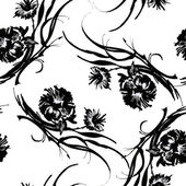 Black flowers pattern — Stock Photo