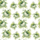 Blooming rowan branch pattern — Stock Photo