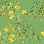 Wild flowers pattern — Stock Photo