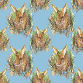 Colorful rabbit pattern — Stock Photo