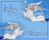 Angels in Christmas sky — Stock Photo
