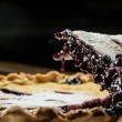 Homemade Organic Blueberry Pie isolated on black — Stock Photo #40428883