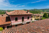 Italian provincial buildings — Stock Photo