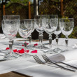 Stock Photo: Elegance table set up for dinning room