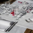 Elegance table set up for dinning room — Stock Photo