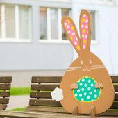 Tavşan Park organik kağıttan yapılmış. Dekorasyon — Stok fotoğraf