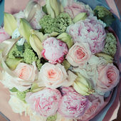 Brautstrauß, blumen, rosen, schönen blumenstrauß — Stockfoto
