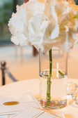 Wedding decorations in pink colour — Stock Photo