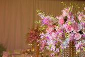 Hochzeit dekorationen in lila farbe — 图库照片