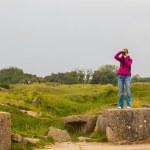 Old broken German bunkers of Atlantic Wall on Pointe-Du-Hoc. Wes — Stock Photo #47228011
