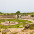 Old broken German bunkers of Atlantic Wall on Pointe-Du-Hoc. Wes — Stock Photo