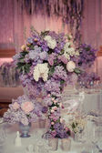 Festive table decoration in Lilac colours. — Stockfoto
