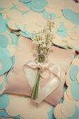 白い金の結婚指輪 — ストック写真