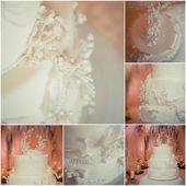 Beautiful white wedding cake — Stock Photo