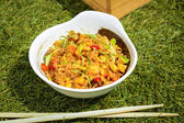 Fried rice with seafood in Japanese style — Stock Photo