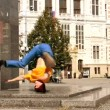 Stock Video: Breakdancer on street