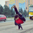 Breakdancer dancing in the city — Stock Photo #40229937
