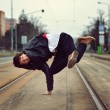Breakdancer dancing in the city — Stock Photo #40229941