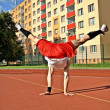 Boy dancing breakdance — Stok Fotoğraf #40229943