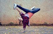 Breakdance girl — Stock Photo