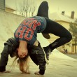 Breakdance girl — Stock Photo