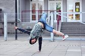 Breakdancer on the street — Stock Photo