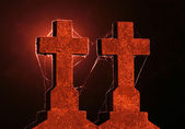 Crosses at night — Stock Photo