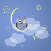 Night owl — Stock Vector