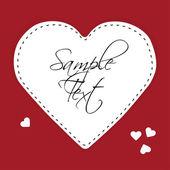 Białego papieru serca na czerwonym tle — Wektor stockowy