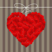 Big heart made of many small red hearts — Vetorial Stock