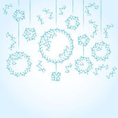 Blue background with Christmas balls — Stock Vector