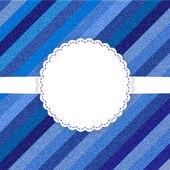 Blue jeans template card — Stock vektor