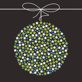 Christmas ball on a dark background — Vector de stock