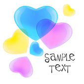 CMYK hearts — Stock Vector
