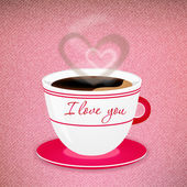 Coffee Valentine cup — Stock Vector