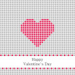 Greeting card Valentines Day with grey circles and red heart — Stock Vector #39894327